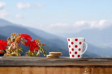Good morning Alps stock vector