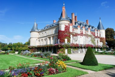 Rambouillet castle in autumn