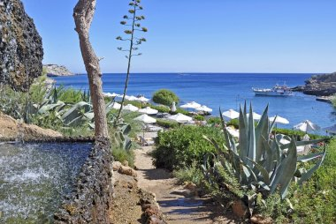Kalithea is the best place for swimming in Rhodes
