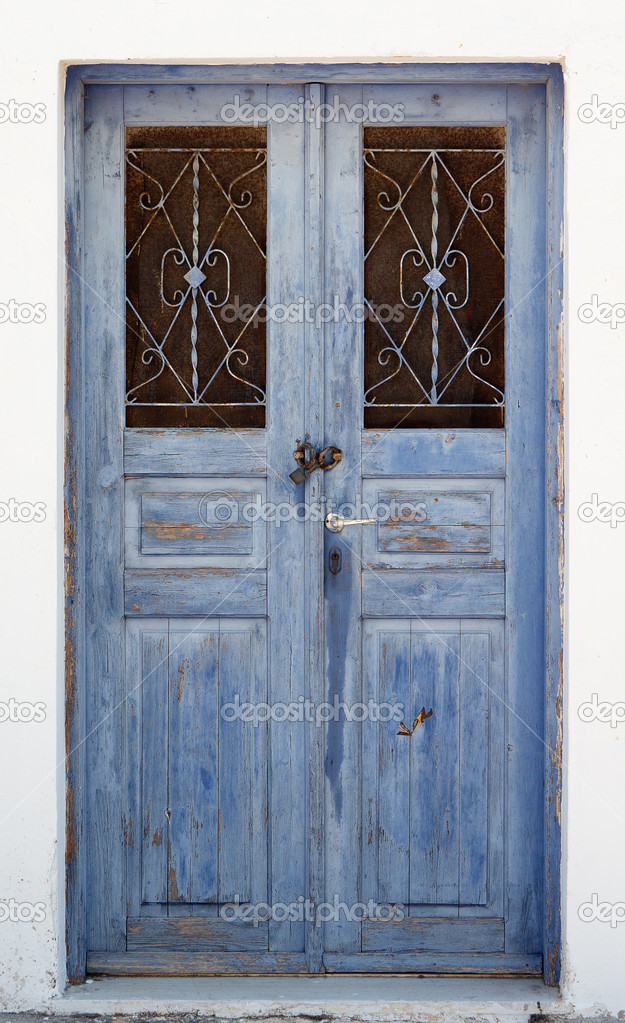 Blue vintage door u2014 Stock Photo & Blue vintage door u2014 Stock Photo © serg_rajab #43591337