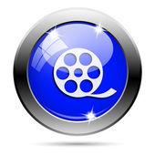 Kovově modré lesklé ikona