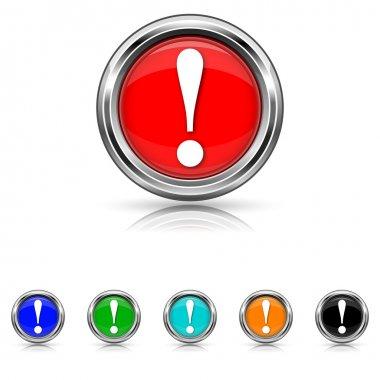 Attention icon - six colours set