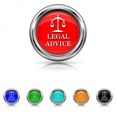 Legal advice icon - six colours set