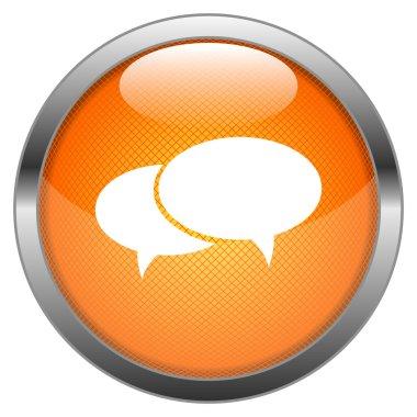 Vector Button Speech Bubble