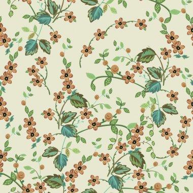Flower- seamless pattern, vector illustration.