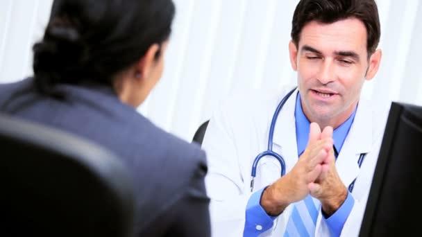 Fotografie medizinische Berater Haushalte treffen Büroleiterin