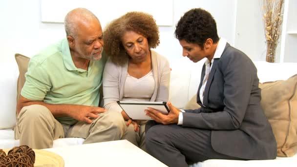 Business Advisor Home Meeting Senior Couple