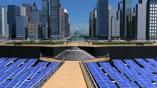 Digitální koncepce čisté energie eco systém města