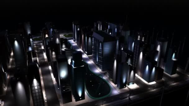 Digitální cg čisté energie běží na město