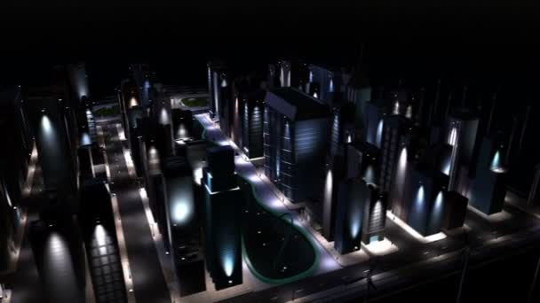 digitale cg saubere Energie angetrieben Stadt