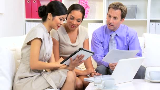 Female Ethnic Team Leader Advertising Meeting