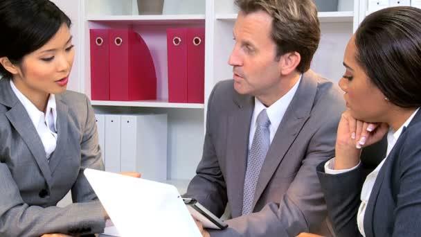 Caucasian Businessman Successful Team Meeting