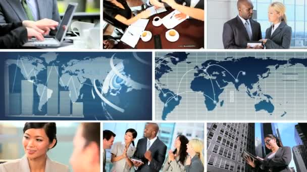 Business montage images, USA