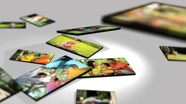 3D sestřih multi etnické rodinné životní styl