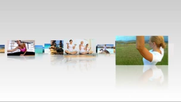 3D-s képek jóga edzés montázs