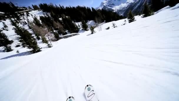 sjezd hory, lyžování