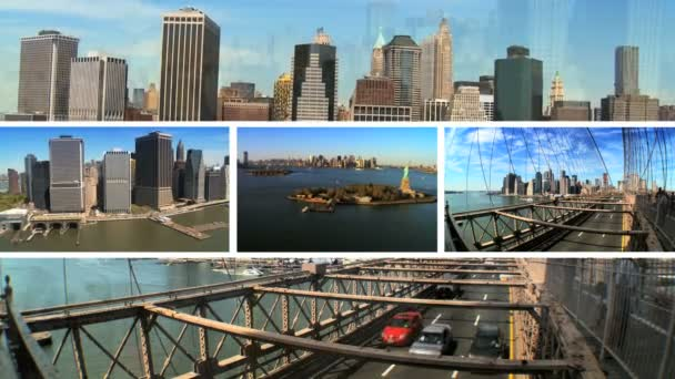 sestřih new york city Brooklynský most a manhattan
