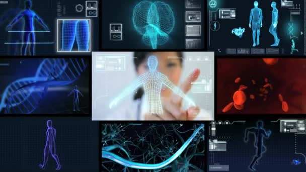 Montage Female Doctor Using CG Visual Research