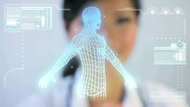 sestřih obrazy 3d virtuální lékařského výzkumu