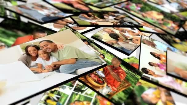 montáž 3d tabletu obrazy mladých multi řady etnik