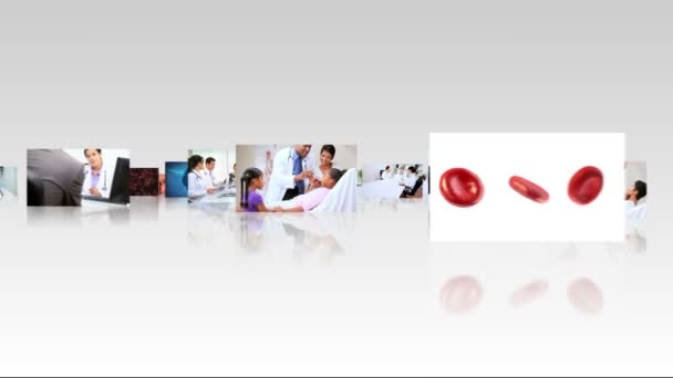 Montage 3D fly through medical consultants and patients