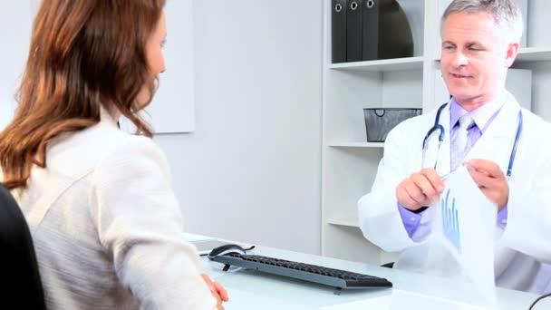 Male Doctor Meeting Pharmaceutical Representative — Stock Video ...
