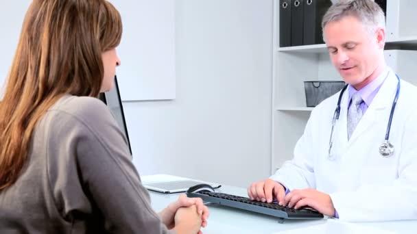 Doctor Discussing Orders Pharmaceutical Representative — Stock Video ...