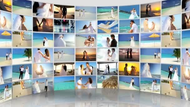 sestřih Kavkazský pár tropické pláži svatba a líbánky