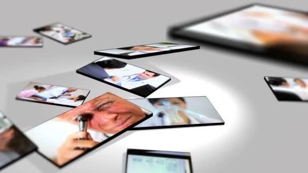 Montázs orvosok és orvosi laboratóriumi kutatások