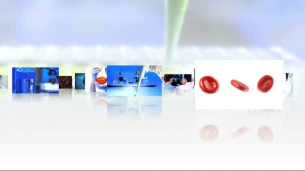 sestřih obrázky vědeckých výzkumníků a cg grafika