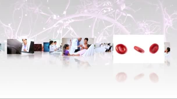 Montage Bilder Multi ethnischen Ärzte und cg Grafiken