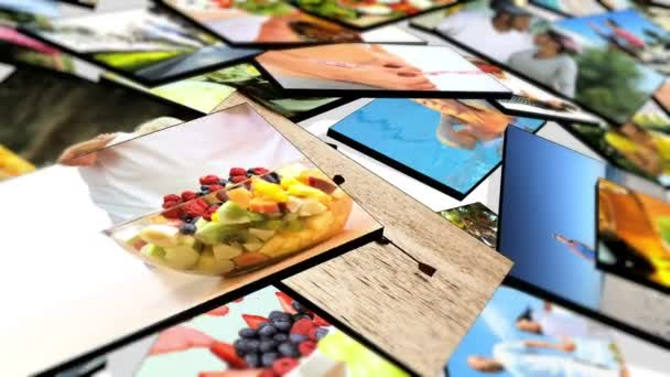 montáž 3d obrazy zdravé výživy a sportovní aktivity