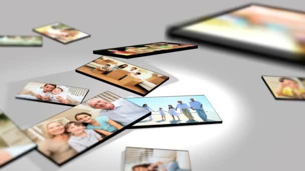 montáž 3d obrazy rodinné generace dohromady
