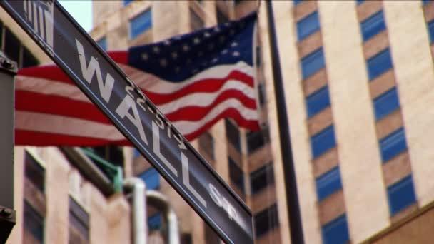 Wall Street  amerikai zászló, repülő New York-i
