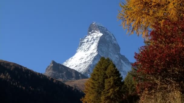 Fall in an alpine meadow Zermatt with Matterhorn