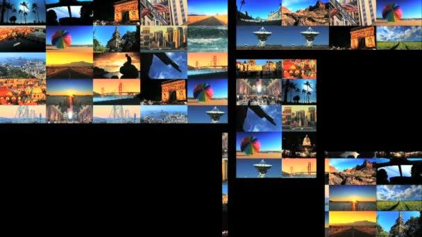 Více pohyblivé panely letadla  cestování cílová obrazů