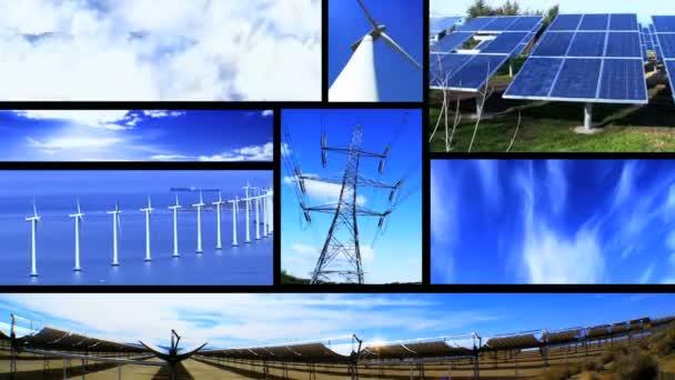 Sestřih z pohyblivých obrazů z obnovitelných zdrojů energie  napájecí zdroje