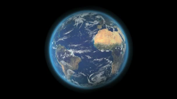 Earth globe rotating on a seamless loop in HD