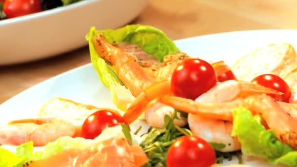 Mořské plody  jídlo salát