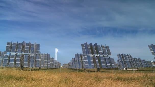 řádky moci výdech solárních panelů