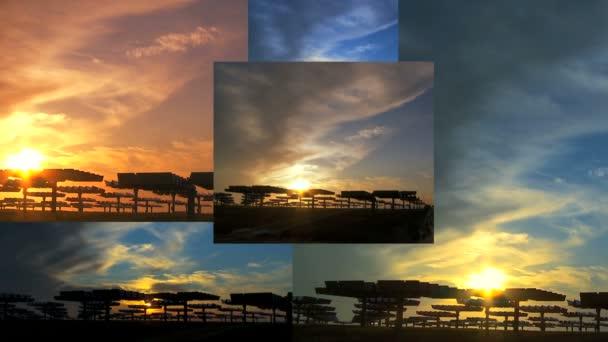 Panely z Time-lapse Cloud  vícebarevné nebe nad solární elektrárny