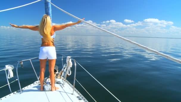 Jet Setting Blonde on Luxury Yacht