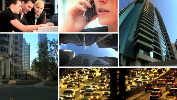 Montage of Business  Fast City Life
