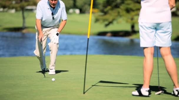 požívající starobní hrát golf