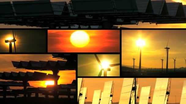 západ slunce čisté energie sestřih