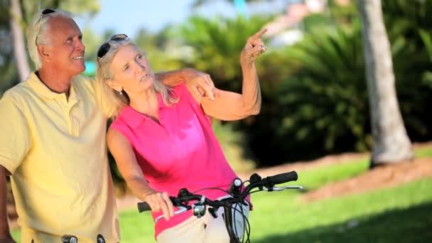 senioři cyklistika cvičení