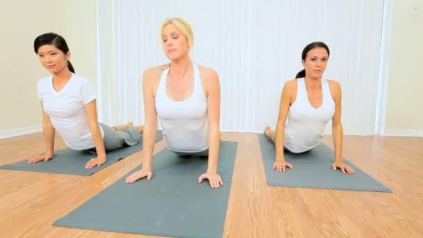 Multi-Ethnic Females at Yoga Class