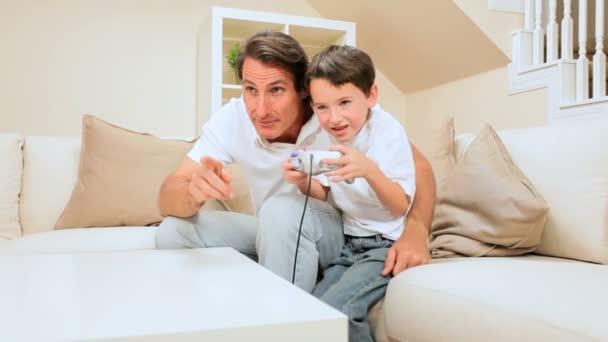 Otec  syn hraní elektronických her