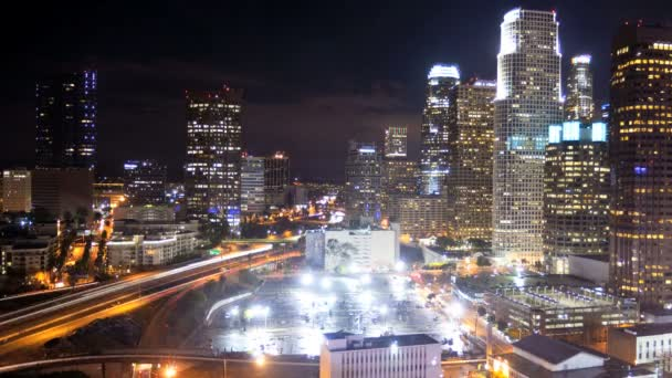 Los angeles city noční time-lapse