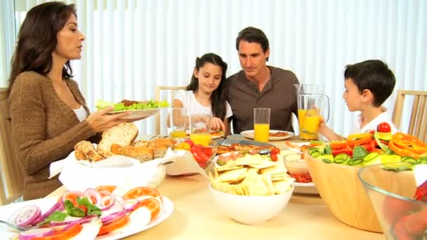 zdravá rodina jíst dohromady